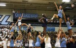 Cheerleaders perform their routine