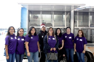 Bell's Students Against Animal Violence work with the Bedford Animal Shelter