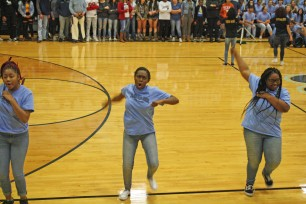 Steppers at Weatherford pep rally